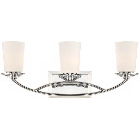 "Palatial 3-Light 22 1/2"" Wide Chrome Bath Light"