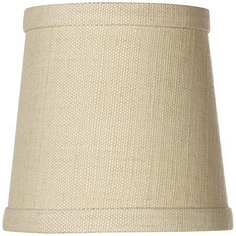 Herbal Linen Drum Lamp Shade 4x5x5 (Clip-On)