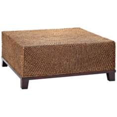 Maize Rope and Wood Outdoor Coffee Table