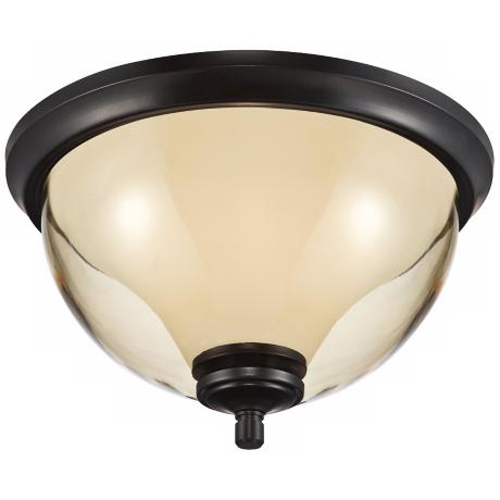 "Stockholm 13"" Wide Bronze Indoor - Outdoor Ceiling Light"