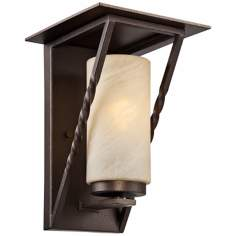 "Parkview 13 1/2"" High Flemish Bronze Outdoor Wall Light"