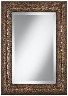 "bronze 33"" crackled glass mosaic wall mirror (w8574)"