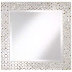 "Diamond 32 1/4"" High Glass Mosaic Wall Mirror"