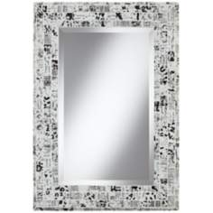 "Lettergraph 33"" High Mosaic Wall Mirror"