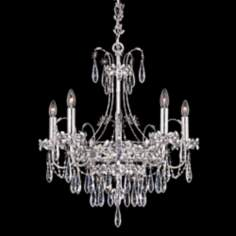 "Schonbek Ekaterina 22"" Wide Steel Crystal Chandelier"