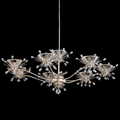 "Schonbek Estella Antique Silver 35"" Wide Crystal Chandelier"
