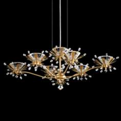 "Schonbek Estella Heirloom Gold 25"" Wide Crystal Chandelier"