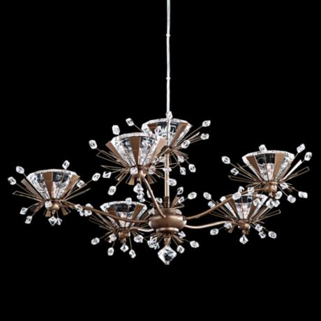 "Schonbek Estella Smooth Bronze 27"" Wide Crystal Chandelier"
