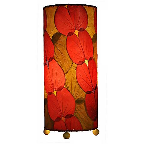 Eangee Red Butterfly Uplight Table Lamp