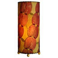 Eangee Burgundy Butterfly Uplight Table Lamp