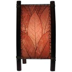 Eangee Fortune Burgundy Accent Lamp
