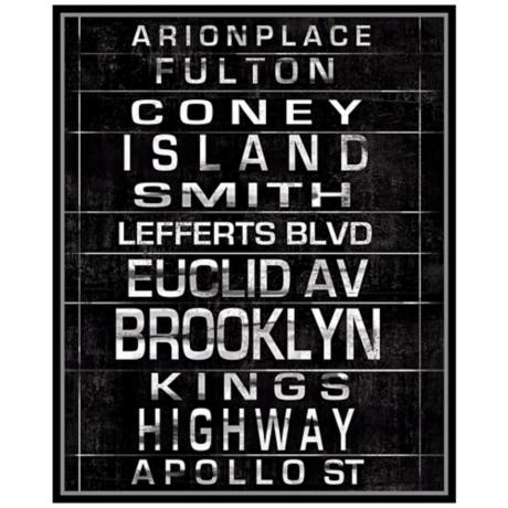 "New York City Destinations I 31 1/2"" High Framed Wall Art"
