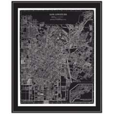 "Los Angeles 31 1/2"" High Framed Map Wall Art"