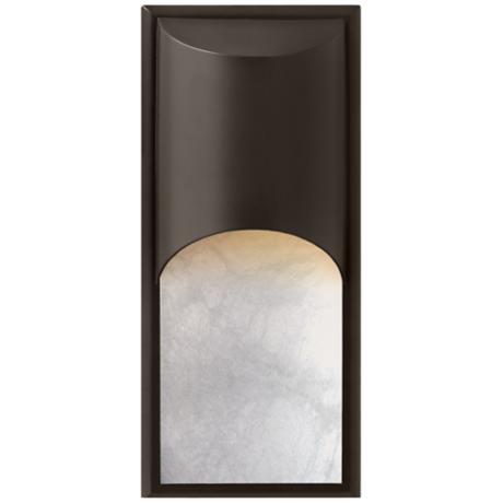 "Hinkley Cascade Alabaster 18""H Bronze Outdoor Wall Light"