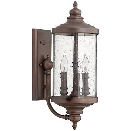 "Hinkley Barrington 20 1/4"" High Bronze Outdoor Wall Lantern"