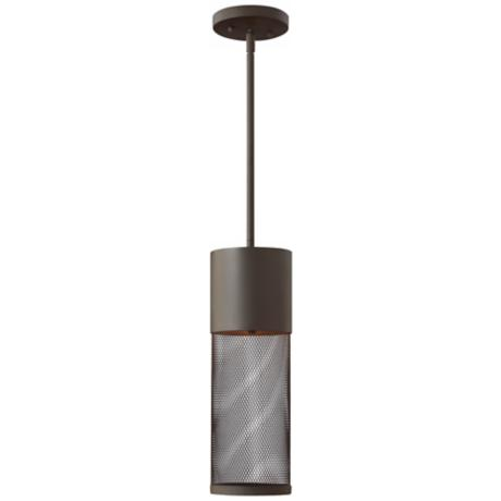 "Hinkley Aria Steel Mesh 19 1/4"" High Bronze Outdoor Pendant"