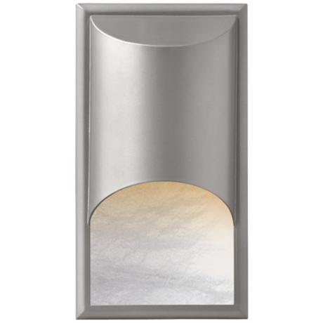 Hinkley Cascade Alabaster Titanium Outdoor Wall Light