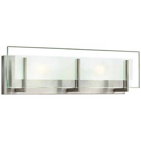 "Hinkley Latitude 18"" Wide Brushed Nickel Vanity Light"