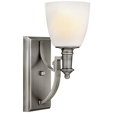 "Hinkley Truman 12 3/4"" High Antique Nickel Wall Sconce"