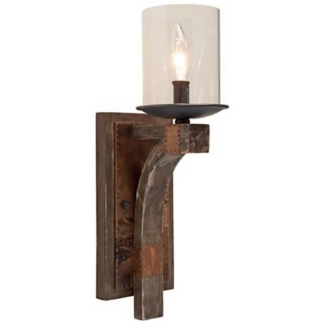 "Artcraft Hockley 5 1/4"" Wide Pine Wood Wall Sconce"