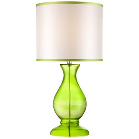Contemporary Green Glass Table Lamp