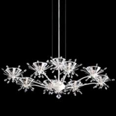 "Schonbek Estella Porcelain 27"" Wide Crystal Chandelier"