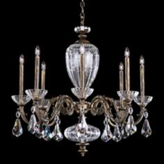 "Schonbek Poeta 30 1/2"" Wide Midnight Gild Crystal Chandelier"