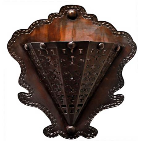 "Jezebel Radiance™ 5 3/4"" Deep Tribal Tin Wall Sconce"