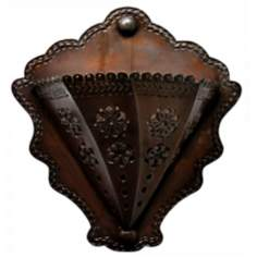 "Jezebel Radiance™ 6 1/2"" Deep Tribal Tin Wall Sconce"