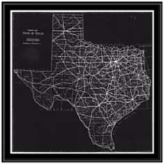"Texas 31 1/2"" High Framed Map Wall Art"