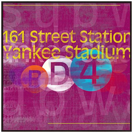 "Yankee Stadium Subway 20 1/2"" Square New York City Wall Art"