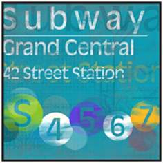 "Grand Central Subway 20 1/2"" Square New York City Wall Art"
