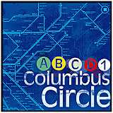 "Columbus Circle 20 1/2"" High New York Subway Wall Art"