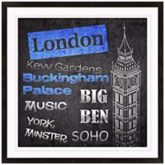"London Stamp 15"" High Framed Wall Art Print"