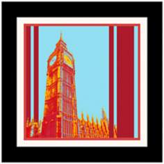 "London Clock Tower 17 1/4"" High Framed Wall Art"