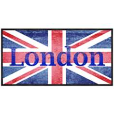 "London Flag 20 1/2"" Wide Framed Wall Art"