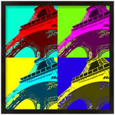 "Paris Multicolor 13"" Square Eiffel Tower Wall Art"