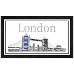 "London City Skyline 28 1/2"" Wide Framed Wall Art"