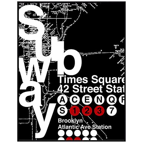 "Times Square Subway 26 1/2"" High Framed Wall Art"