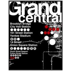 "Grand Central Subway 26 1/2"" High Framed Wall Art"