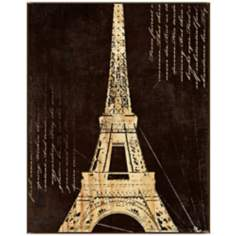 "Paris Wood 38 1/2"" High Framed Wall Art"