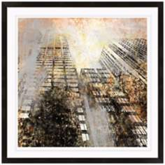 "Tall Building 15"" High Framed Architectural Wall Art Print"