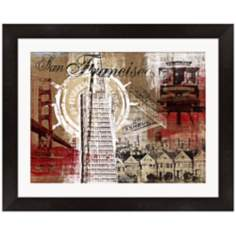 "San Francisco Collage 21"" Wide Framed Wall Art"