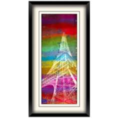 "Paris Pop 25 1/2"" High Framed Eiffel Tower Wall Art"