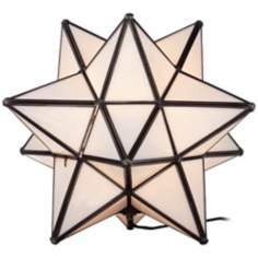 Moroccan Star White Accent Table Lamp