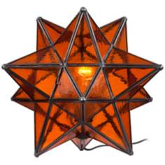 Moroccan Star Amber Accent Table Lamp