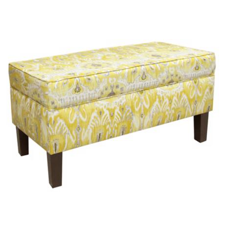 Alessandra Lemon Ottoman Storage Bench