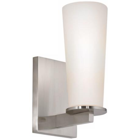 "Sonneman High Line 9 1/2"" High Satin Nickel Wall Sconce"