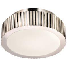 "Sonneman Paramount 12 1/2"" Wide Nickel Ceiling Light"