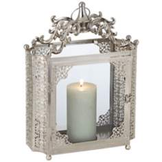Paradiso Brushed Nickel Candle Lantern